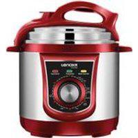 Panela Eletrica Pressao Multi Red 3L 127V Vermelho Lenoxx