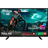 "Tv Smart Led Preto Philco 40"" Bivolt Ptv40E21Dswn"