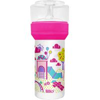Mamadeira Lillo Super Divertida Cor Rosa 260Ml