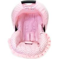 Capa Para Bebê Conforto Chevron Alan Pierre Baby 0 A 13 Kg Rosa