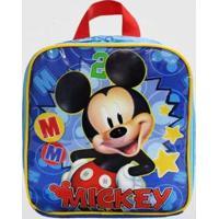 Lancheira Mickey Infantil Xeryus Masculina - Masculino-Azul Escuro