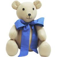 Urso De Tecido Atelie Baby E Cia Bege