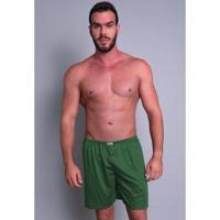 Short Pijama Curto Mvb Modas Masculino - Masculino-Verde