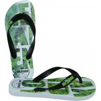 Chinelo Mr.Silver Relax And Enjoy - Masculino-Verde+Preto