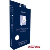Meia Coxa Sigvaris Select Comfort Premium Pé Aberto Médio Normal Cor Natural Ref-2A33 Compressão 30-40 Mmhg