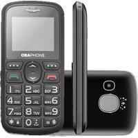 Celular Obaphone Obabox Botão Sos Desbloqueado Preto