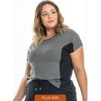 Blusa Rovitex Plus Size Cinza
