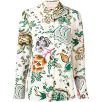 Tory Burch Blusa Com Bordado Floral - Neutro