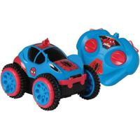 Carrinho Marvel Spider Man Spider Flip - Unissex-Azul+Vermelho