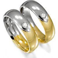Aliança De Ouro Saturno Com Filete Trabalhado - As0759