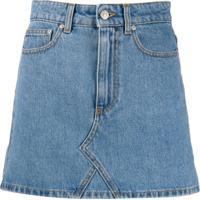 Chiara Ferragni Fitted Denim Mini Skirt - Azul