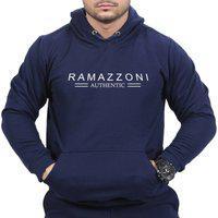 Moletom Blusa De Frio Ramazzoni Authentic Marca Famosa Marinho