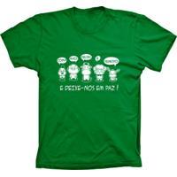 Camiseta Baby Look Lu Geek Vegetarianos Verde