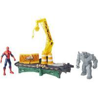 Plaset Web City - Rhino - Homem Aranha - Marvel - Hasbro - Masculino-Incolor
