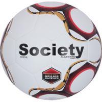 9b8ec870fd Bola Society Topper Maestro Pro - Branco Vermelho