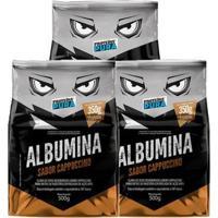 Kit 3X Albumina 500G - Proteína Pura - Unissex-Cappuccino