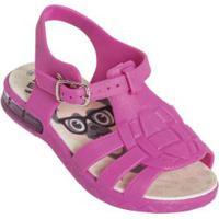 Sandália Infantil Pink Com Luzinha