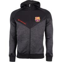 ... Nike Store  Jaqueta Barcelona Com Capuz Jogador - Masculina - Cinza  Escuro Preto d1dea12663dff