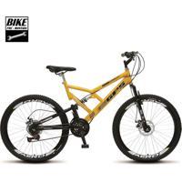 Bicicleta Colli Aro 26 Dupla Suspensão Freios Á Disco - Unissex-Amarelo