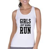 Regata Criativa Urbana Cavada Fitness Girls - Feminino-Branco