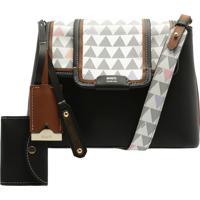 Crossbody Wallet Triangle Black   Schutz
