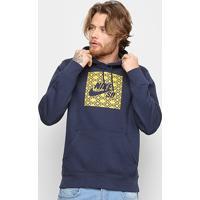 Blusão Nike Sb Nomad Com Capuz Masculino - Masculino-Chumbo+Azul