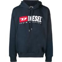 Diesel Moletom Com Capuz - Azul