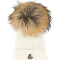 Moncler Kids Classic Knitted Beanie Hat - Branco