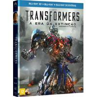 Transformers A Era Da Extinção 3 Blu-Ray 3D + Blu-Ray + Blu-Ray De Extras Filme Ação Paramount