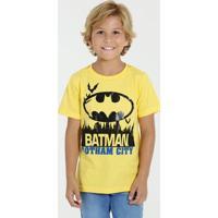 Camiseta Infantil Batman Manga Curta Marisa