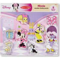Quebra-Cabeça - Peças De Encaixe De Madeira - Disney - Minnie Mouse - New Toys