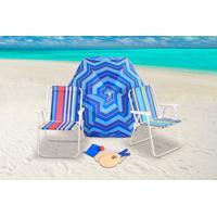 Kit Praia Guarda Sol 1,60M +2 Cadeiras + Frescobol Bel Lazer - Unissex