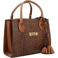 Bolsa Selten Handbag Sanfonada Feminina - Feminino-Marrom