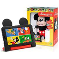 Tablet Multilaser Mickey Mouse Preto E Vermelho, Tela De 7Quot;, Android, Quad Core, 16Gb + Pelucia Mickey Mouse