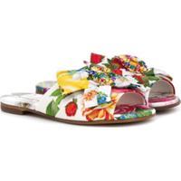 Dolce & Gabbana Kids Sandália Com Estampa Floral - Branco