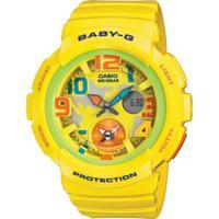 Relógio Feminino Casio G-Shock Baby-G Analógico Digital Bga-190-9Bdr Amarelo