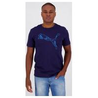 Camiseta Puma Ka Graphic Marinho