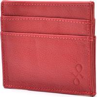 Carteira Hendy Bag Compacta Couro Vermelho