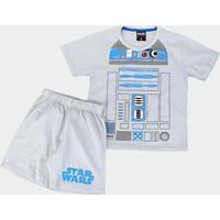 Pijama Infantil Disney Star Wars Masculino - Masculino-Cinza