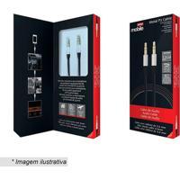 Cabo De Áudio- Prateado & Preto- 120Cm- P2- Easy Mobile