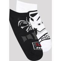 Kit De 2 Meias Femininas Cano Baixo Star Wars Multicor