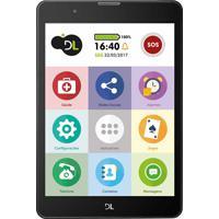 """Tablet Dl Tab Fácil Com Função Celular, Tela 7.85"""", Processador Qua."""