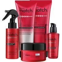 Combo Match Sos Reconstrução: Shampoo + Condicionador + Máscara Capilar + Óleo Capilar + Spray De Proteína