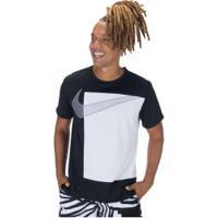 Camiseta Nike Superset Ss Px Gfx - Masculina - Preto/Branco
