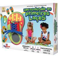 Brinquedo Educativo Aprendendo Primeiros Laços Ciabrink Colorido