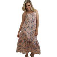 Vestido Midi Floral Rosa