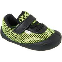 Sapato Comfort Plus Bebê Preto E Verde - Klin - 16