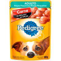 Ração Para Cães Pedigree Adulto Raças Pequenas Sachê Sabor Carne Ao Molho 100G