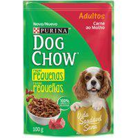Ração Para Cães Dog Chow Adulto Raças Pequenas Sachê Sabor Carne Ao Molho 100G