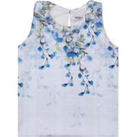 Blusa Floral - Azul Claro & Azullilica Ripilica